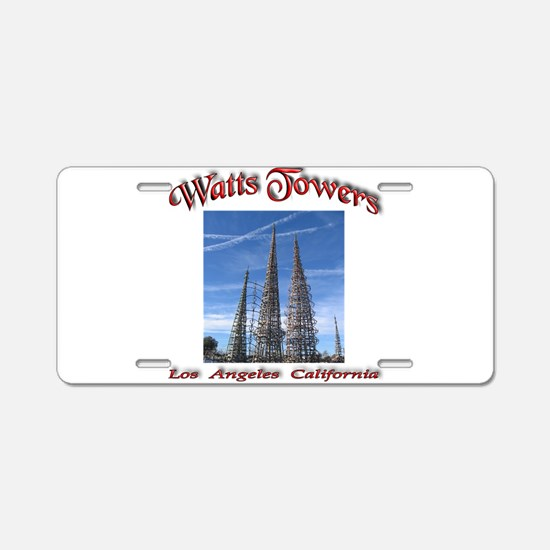 Watts Towers Aluminum License Plate
