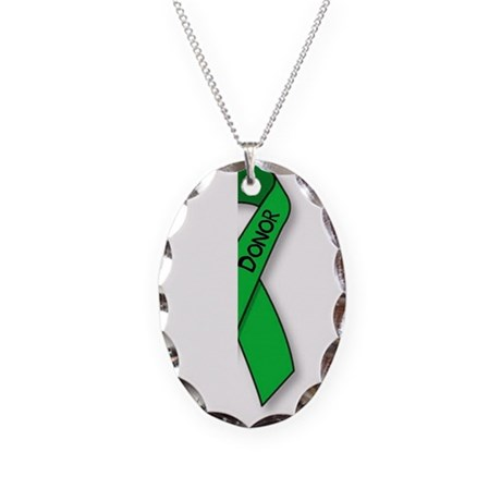 Necklace Oval Charm - donor