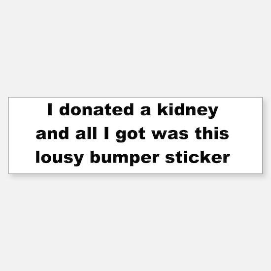 Sticker (Bumper) Lousy Bumper Sticker