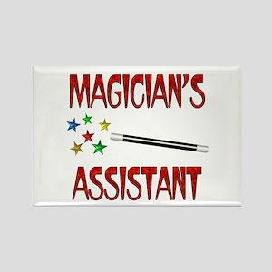 Magician's Assistant Rectangle Magnet