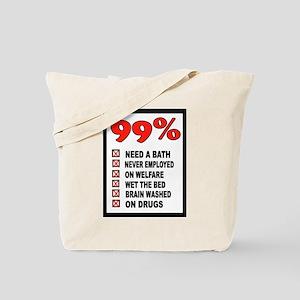 99% WRONG Tote Bag