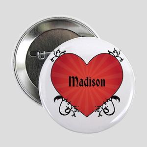 """Custom Name Tattoo Heart 2.25"""" Button"""