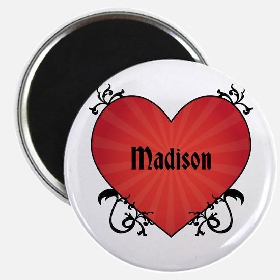 "Custom Name Tattoo Heart 2.25"" Magnet (100 pack)"