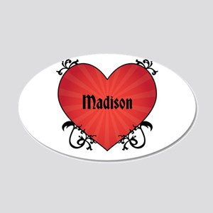 Custom Name Tattoo Heart 22x14 Oval Wall Peel