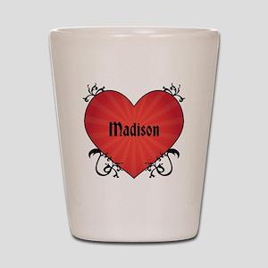 Custom Name Tattoo Heart Shot Glass