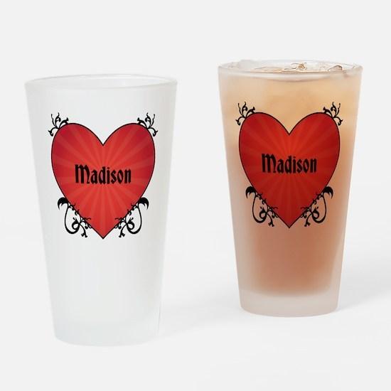 Custom Name Tattoo Heart Drinking Glass