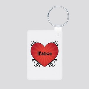 Custom Name Tattoo Heart Aluminum Photo Keychain