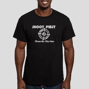 Shoot First Dark Shirts Men's Fitted T-Shirt (dark