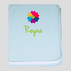 Reyna Valentine Flower baby blanket