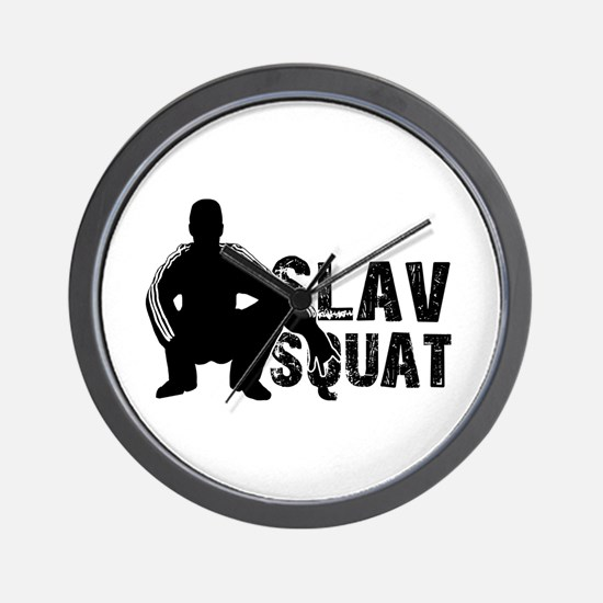 Slav Squat Wall Clock