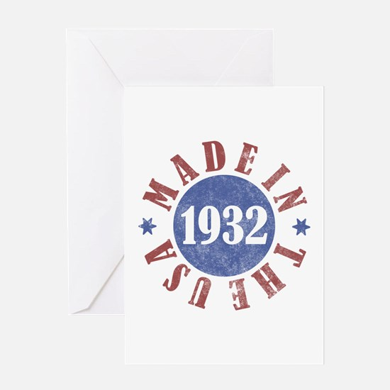 1932 Made In The USA Greeting Card