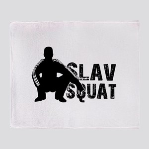 Slav Squat Throw Blanket