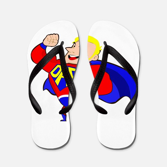 blonde super dad Flip Flops