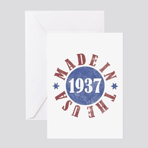 1937 Made In The USA Greeting Card