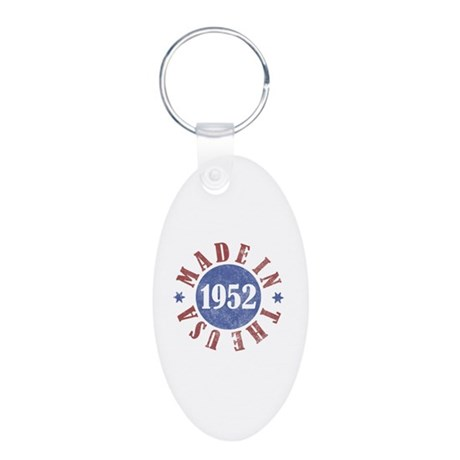 1952 Made In The USA Aluminum Oval Keychain