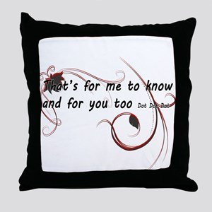 Dot Dot Dot... Throw Pillow
