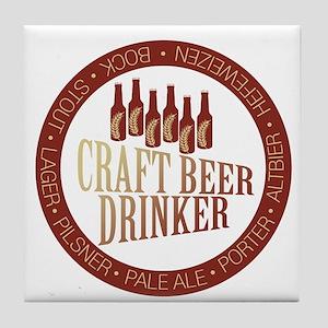 Craft Beer Drinker Tile Coaster