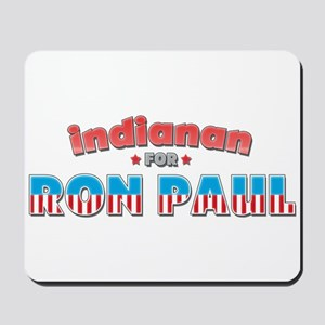 Indianan For Ron Paul Mousepad