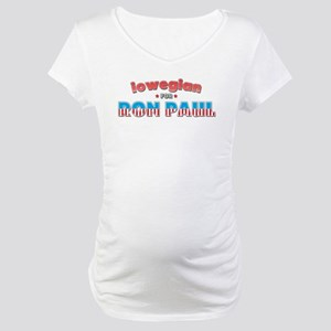 Iowegian For Ron Paul Maternity T-Shirt
