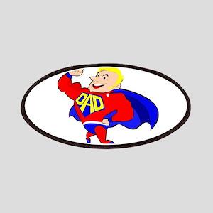 blonde super dad Patch