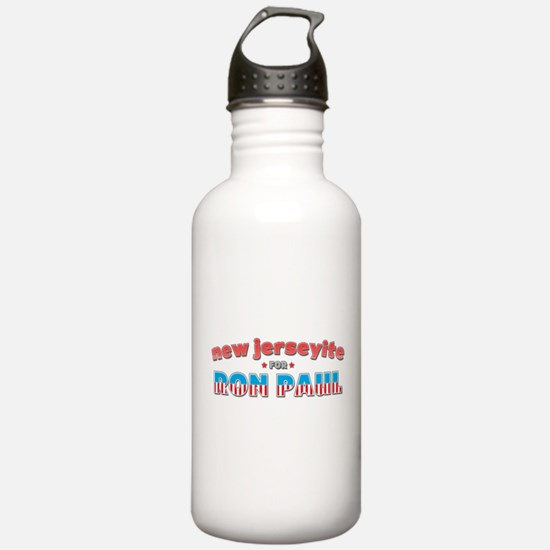 New Jerseyite For Ron Paul Water Bottle
