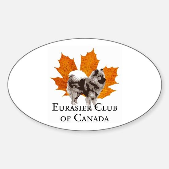 Eurasier Club of Canada (ECC) Oval Decal