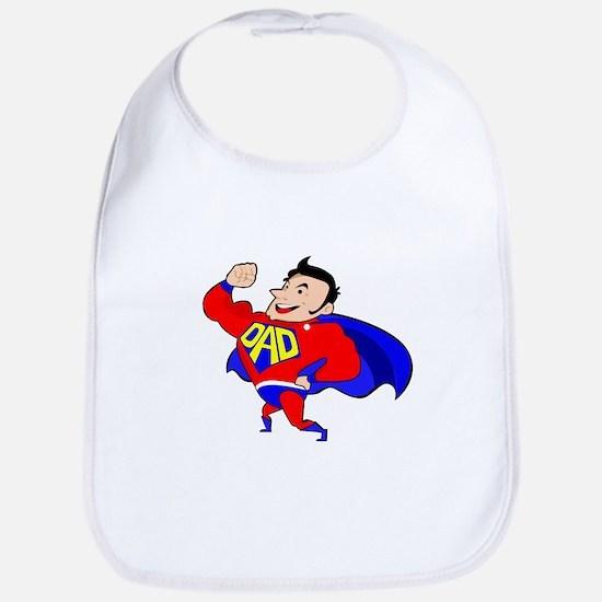 Fathers Day Super Dad Baby Bib
