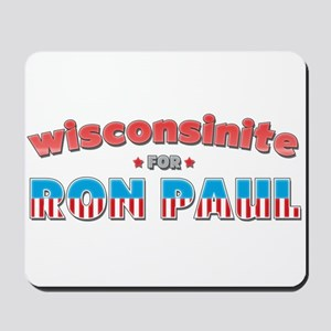Wisconsinite For Ron Paul Mousepad