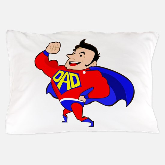 Fathers Day Super Dad Pillow Case