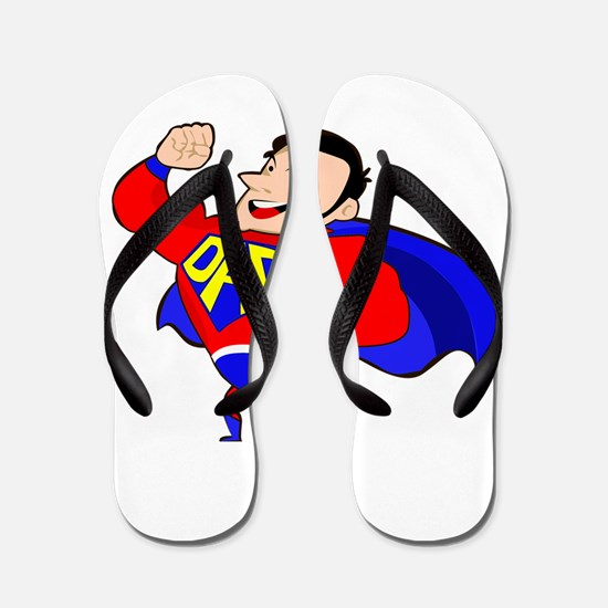 Fathers Day Super Dad Flip Flops