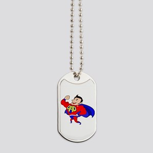 Fathers Day Super Dad Dog Tags