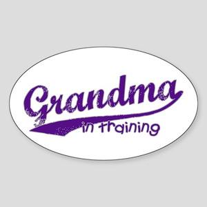Grandma in Training Oval Sticker