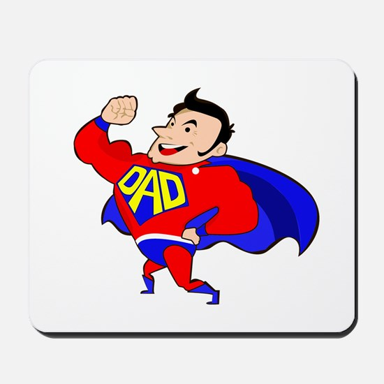 Fathers Day Super Dad Mousepad