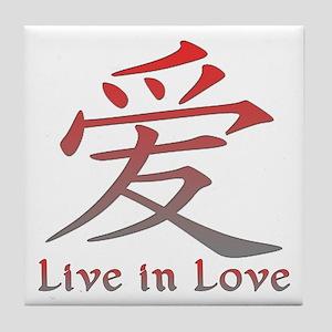 Live in Love Tile Coaster