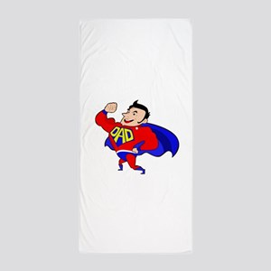 Fathers Day Super Dad Beach Towel