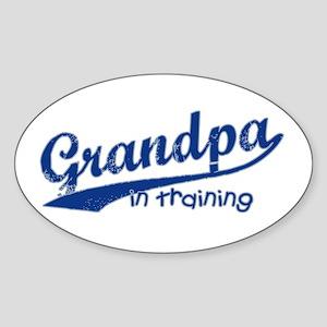 Grandpa in Training Oval Sticker