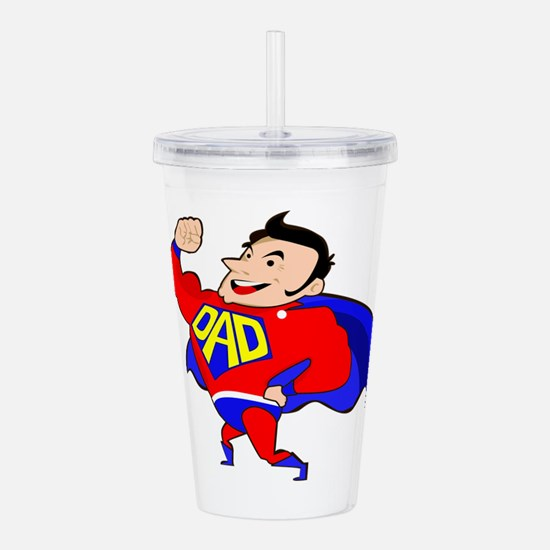 Fathers Day Super Dad Acrylic Double-wall Tumbler