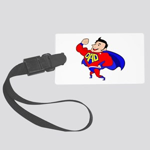 Fathers Day Super Dad Large Luggage Tag