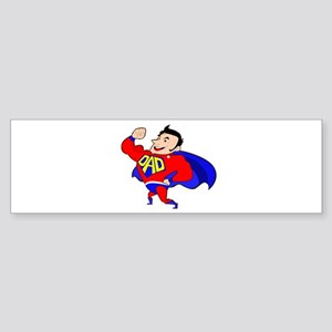Fathers Day Super Dad Bumper Sticker