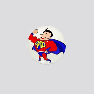 Fathers Day Super Dad Mini Button