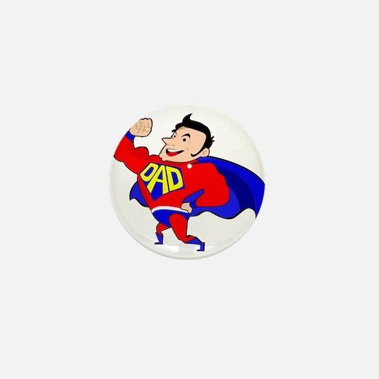 Fathers Day Super Dad Mini Button