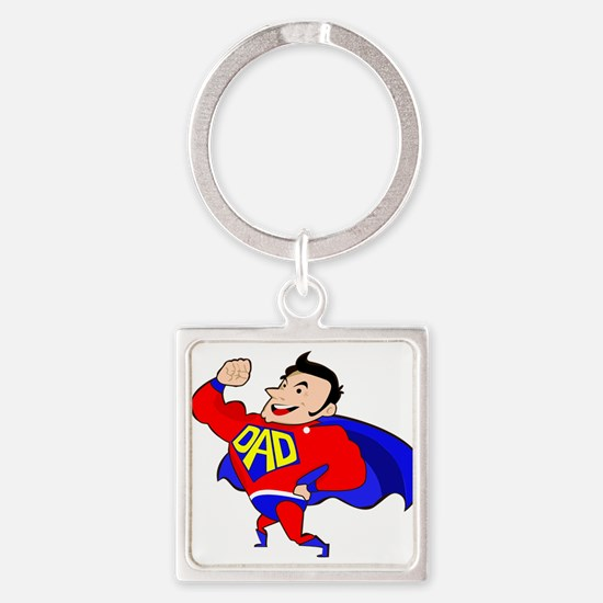 Fathers Day Super Dad Keychains