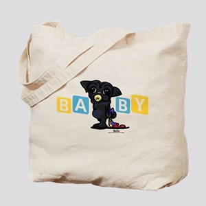 Boy baby PUG black Tote Bag