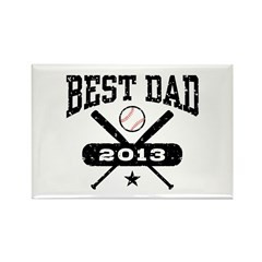 Best Dad 2013 Baseball Rectangle Magnet