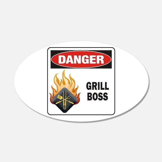 Grill Boss 22x14 Oval Wall Peel