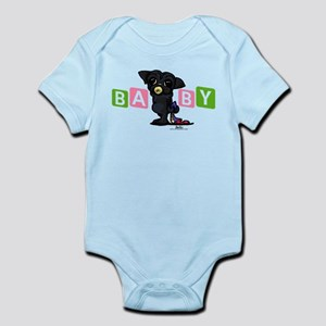 Girl baby PUG black Infant Bodysuit