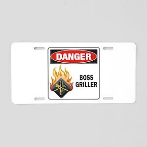 Boss Griller Aluminum License Plate