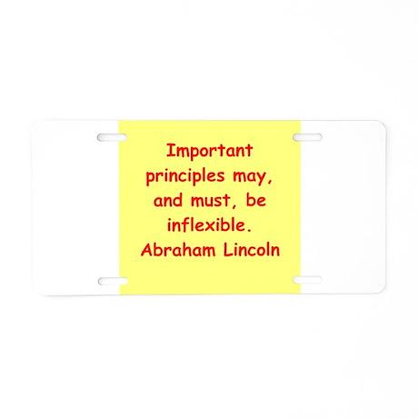 abraham lincoln Aluminum License Plate