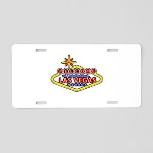 Las Vegas Sign Aluminum License Plate