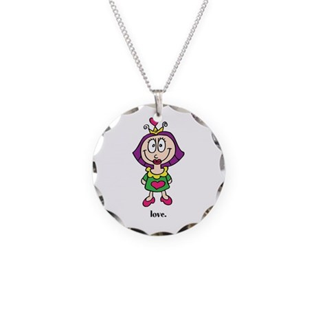 Cute Valentine's Day Princess Necklace Circle Char